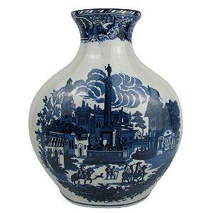 Vaso De Cerâmica Azul Português