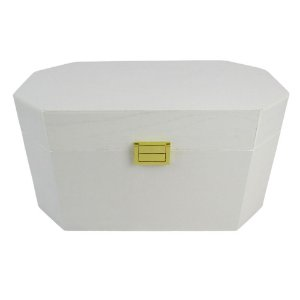 Caixa Decorativa Marmorizada Branca 35x19