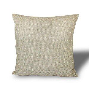 Almofada Tecido Branco Em Linho Bege 48x48