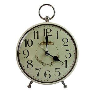 Relógio De Mesa Despertador Pequeno Off White