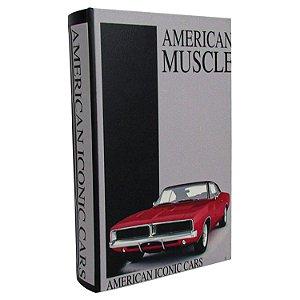 Caixa Livro Decorativa Book Box American Muscle Cars