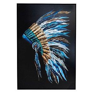 Tela Quadro Canvas Cocar De Índio 1,50x1,0 M
