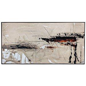 Tela Quadro Canvas Abistrata Horizontal Moderna Shibita 2x1 M