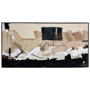 Tela Quadro Canvas Abistrata Horizontal Shibita 2x1 M
