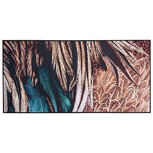 Tela Quadro Canvas Penas Coloridas Horizontal Moderna 2x1 M