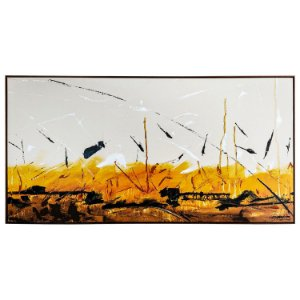 Tela Quadro Canvas Horizontal Abstrata Colorida 2x1 M