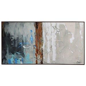 Tela Quadro Canvas Abistrata Horizontal Moderna Shibita 2x1