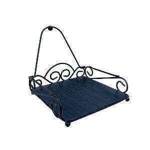 Porta Guardanapo Rústico Metal Azul
