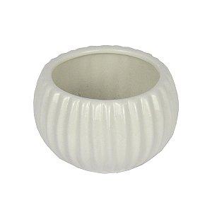 Cachepot De Cerâmica Branco Pequeno