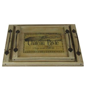 Jogo De Bandejas De Madeira Vinícola Château Pavie