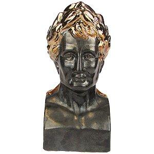 Escultura Decorativa Busto Júlio Cesar Cerâmica