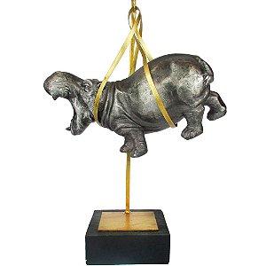 Escultura Hipopótamo Pendurado