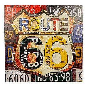 Quadro Decorativo Tela Impressa Route 66 Fullway