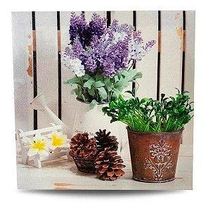 Quadro Decorativo E Tela Personalizados Vaso De Flor 20x20