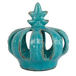 Enfeito Coroa Turquesa Pequena