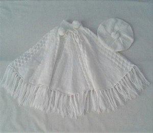 Poncho Boina Infantil Meninas 3/6 Anos Agasalho Frio Ref.037