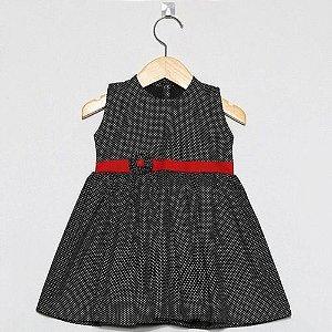 Vestido Regata Infantil  Bebê Preto Poa Ref. 510