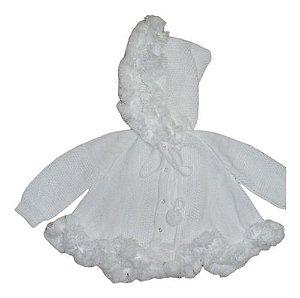 Casaco Frio Pompom Capuz Bebê Infantil 18/24 Meses Ref. 121
