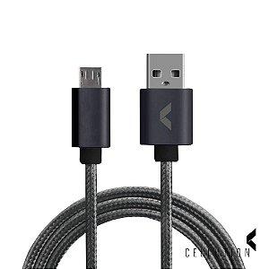 Cabo de dados USB Nylon 1 metro - MicroUSB
