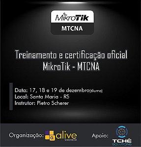 Certificação oficial MikroTik MTCNA - Presencial - Santa Maria/RS