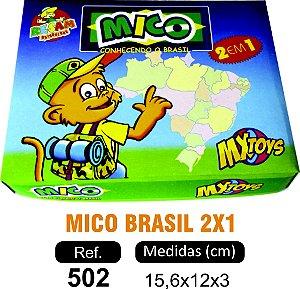 BRINQUEDO JOGO DO MICO BRASIL 2X1