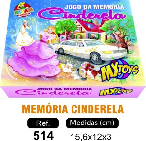 BRINQUEDO JOGO MEMÓRIA CINDERELA