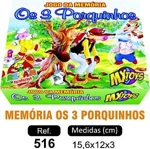 BRINQUEDO JOGO MEMÓRIA OS 3 PORQUINHOS