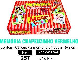 BRINQUEDO MEMÓRIA CHAPEUZINHO VERMELHO