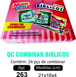 BRINQUEDO QC COMBINAR BIBLICOS