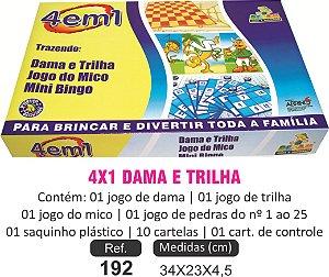 BRINQUEDO 4X1 DAMA E TRILHA