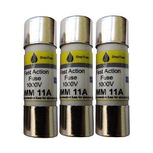 Fusível 11A (COM 3 UNIDADES) – Fusível de ação rápida – 11A / 1000V