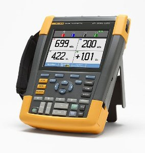 Fluke 190-504 – ScopeMeter® Portátil 500MHz, 4 Canais Isolados, bateria