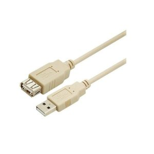USB 2.0 M/F Cor Bege