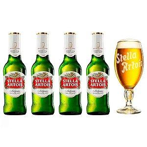 Kit Cerveja Stella Artois Cálice Vintage Premium