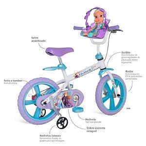 Bicicleta Infantil Aro 14 Frozen 2 - Bandeirante