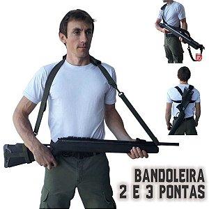 BANDOLEIRA TATICA DE 2 OU 3 PONTAS ARMAS LONGAS.