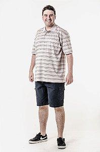 Bermuda cargo e camisa listrada