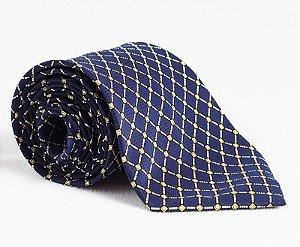 Gravata quadriculada azul