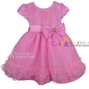 Vestido de Festa Infantil Princesa Barbie
