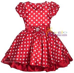 Vestido de festa infantil minnie