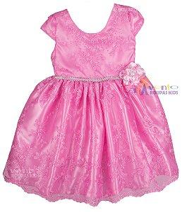 Vestido Festa Infantil Realeza Peppa Gata Marie Baby Alive