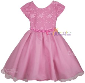 Vestido De Festa Infantil Princesa Realeza Com Tiara