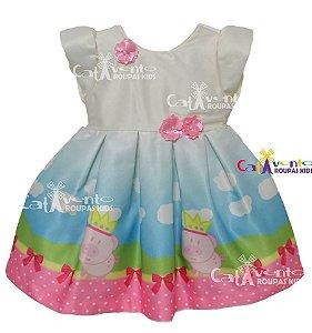 Vestido Infantil Festa Peppa Pig