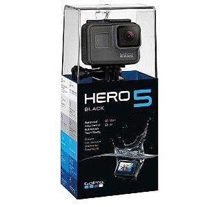 Câmera Gopro Hero 5 Black Lcd Display 12MP Lançamento + Cartão 64gb ultra 4k 90 Mbps