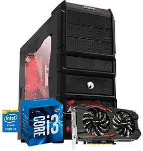 Computador Gamer RHINO - Intel i3-7100 3.9 Ghz  - 8 GB DDR4 - 1TB - GTX 1050TI 4GB 128 BITS - Fonte Corsair 400W