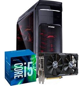 Computador Gamer SAMURAI - Intel i5-7400 3.0 Ghz  - 8 GB DDR4 - 1TB - R9 380X 4 GB 256 BITS - WC Cooler Master Seidon - Fonte Corsair 500 W 80 Plus Bronze
