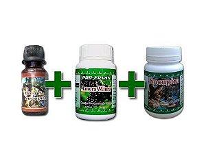 1 Sucupira Óleo 20 ml + 1 Amora Miúra 60 cps + 1 Sucupira 60 cps 500mg - Natural