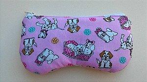 Porta óculos Pink dog