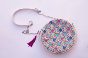 Round bag azulejos colours