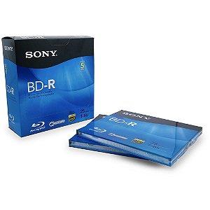 5 Un. de Mídias Blu-ray BD-R 25gb Sony